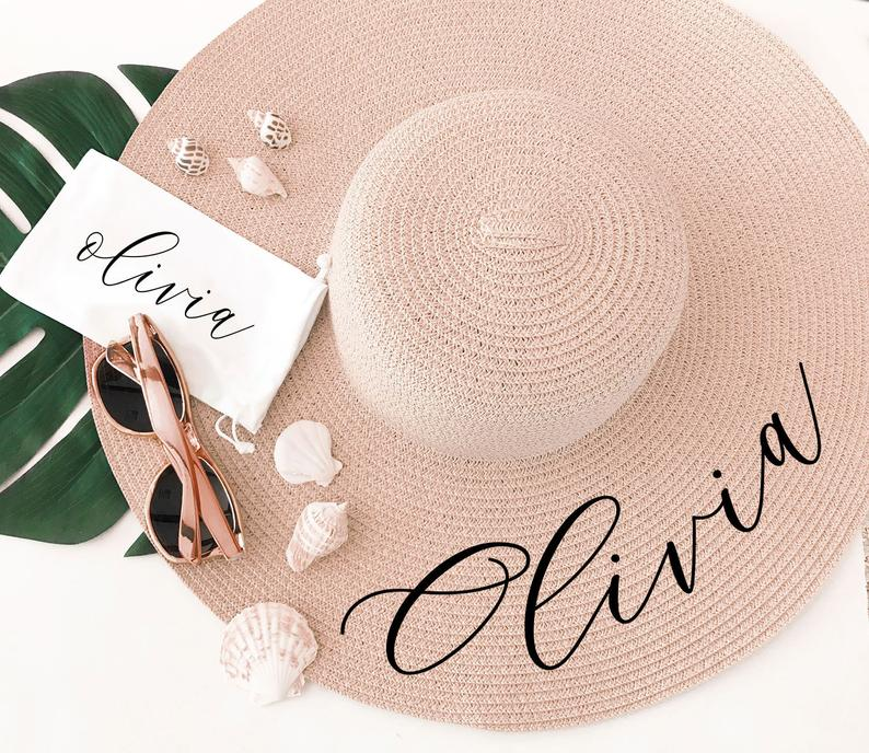 Floppy Beach Hat Personalized