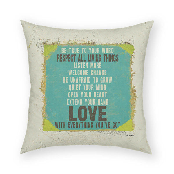 Love With Everything Throw Pillow