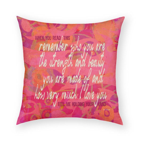 Remember Who You Are Throw Pillow