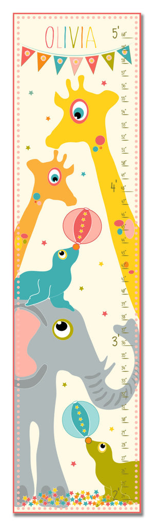 Circus Personalized Growth Chart