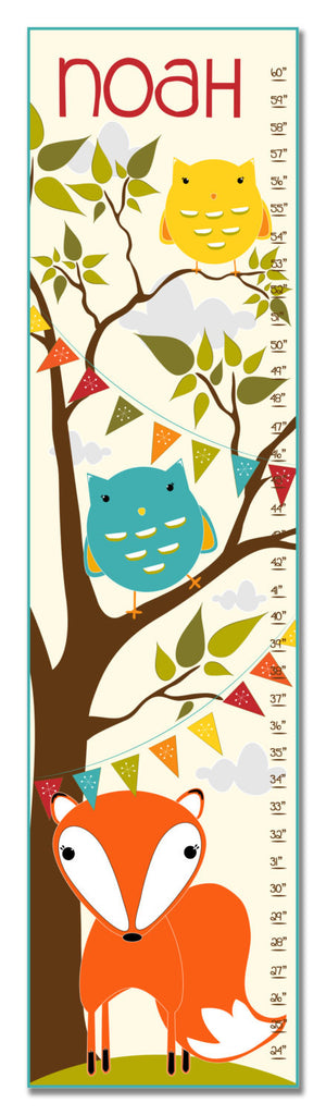 Fox and Owls Personalized Growth Chart - Premier Home & Gifts