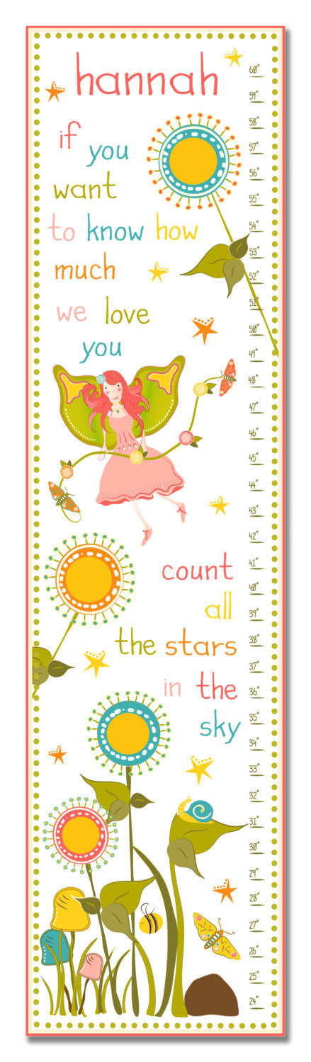 Fairy Princess Personalized Growth Chart - Premier Home & Gifts