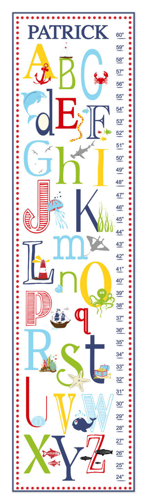 Nautical ABC's Personalized Growth Chart - Premier Home & Gifts