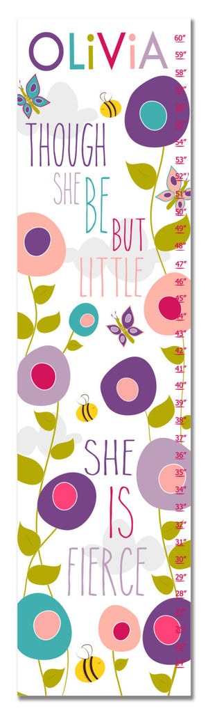 Though She Be But Little Personalized Growth Chart - Premier Home & Gifts