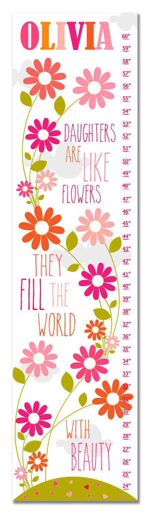 Daughters Personalized Growth Chart - Pink | Premier Home & Gifts