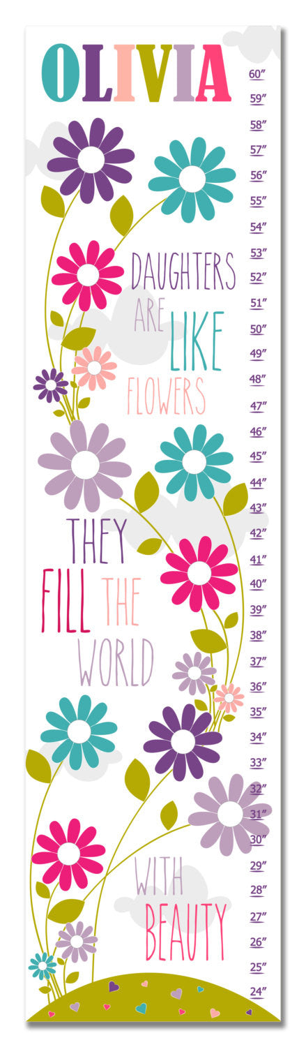 Daughters Personalized Growth Chart - Purple | Premier Home & Gifts