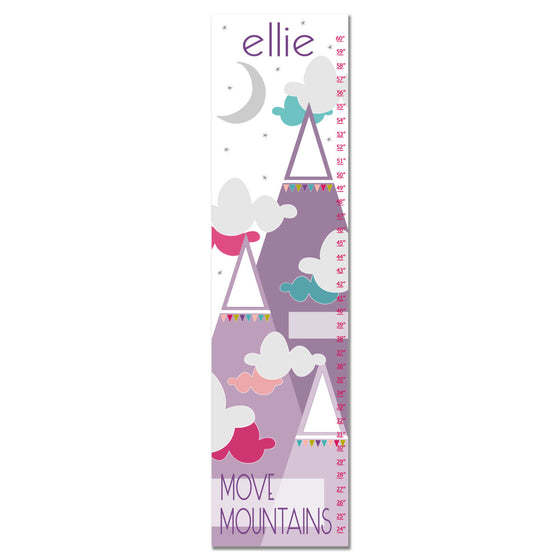Move Mountains II Personalized Growth Chart - Purple | Premier Home & Gifts