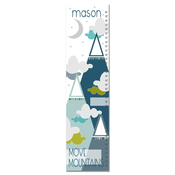 Move Mountains II Personalized Growth Chart - Blue | Premier Home & Gifts