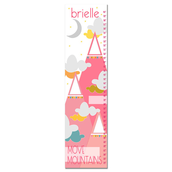 Move Mountains II Personalized Growth Chart - Pink | Premier Home & Gifts