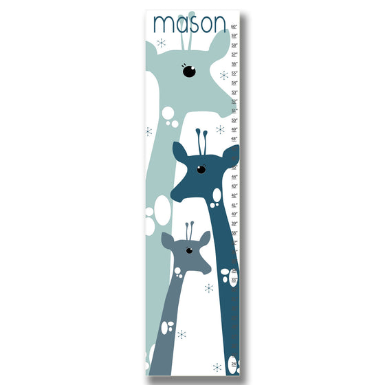Giraffe Personalized Growth Chart - Blue | Premier Home & Gifts