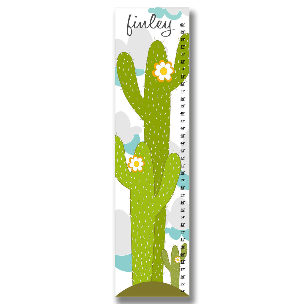 Cactus Personalized Growth Chart - Premier Home & Gifts