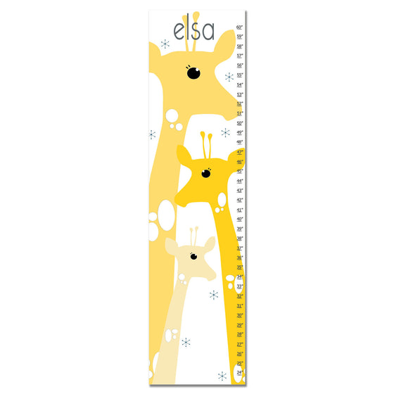 Giraffe Personalized Growth Chart - Yellow | Premier Home & Gifts