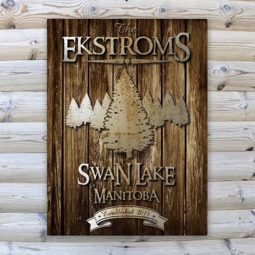 Rustic Cabin & Lake House Canvas Prints