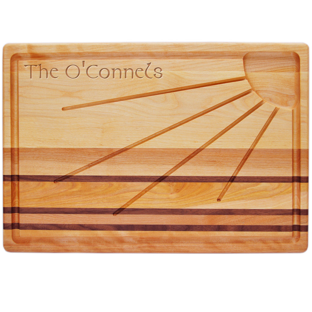 Sunburst Carving Board with Celtic Name