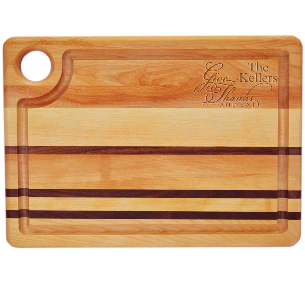 Give Thanks & Eat Cutting Board ~ Personalized
