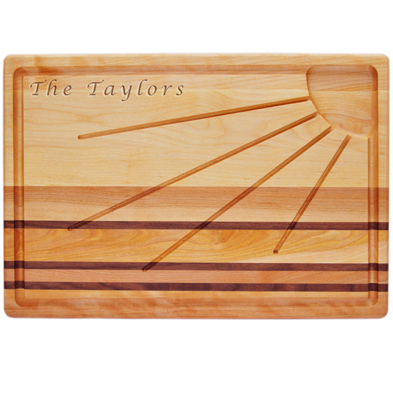 Sunburst Carving Board with Name