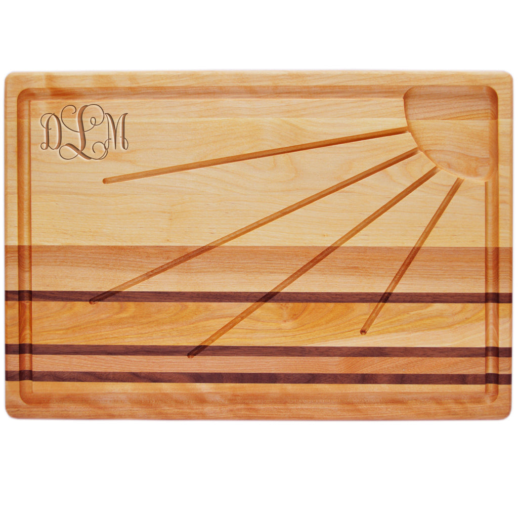 Sunburst Carving Board with Monogram