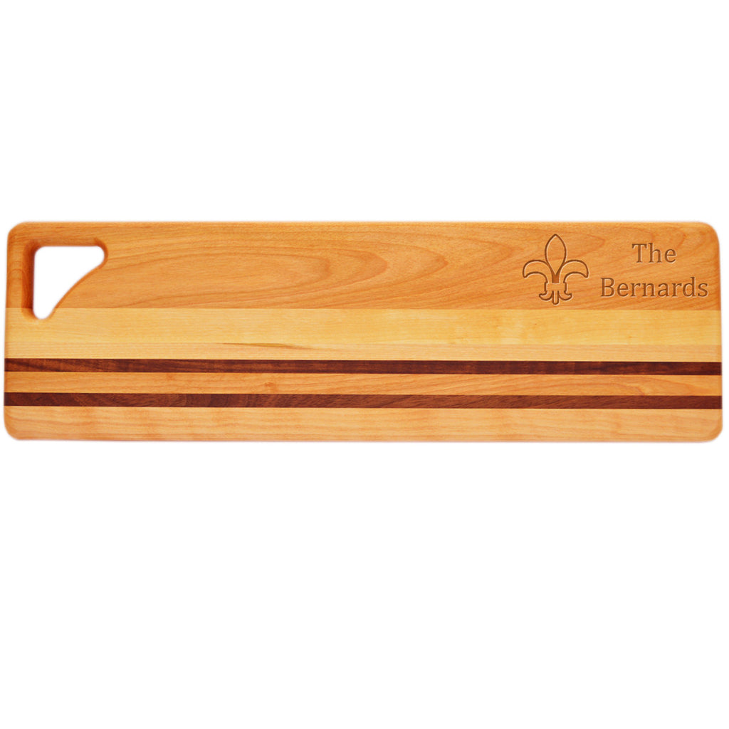 Fleur de Lis Long Serving Board