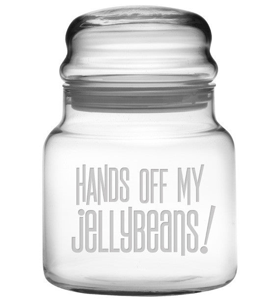 Hands Off My Jellybeans Apothecary Jar