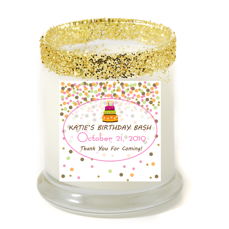 Bop Confetti Birthday Bash Personalized Candle - Birthday Gifts - Premier Home & Gifts