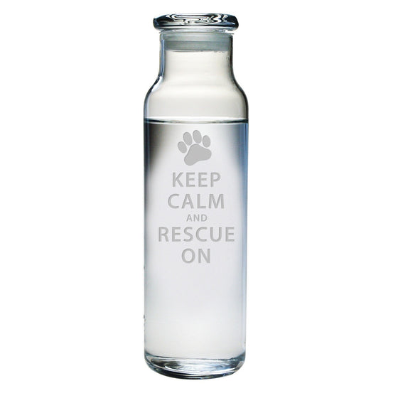 Keep Calm & Rescue On Water Bottle with Lid