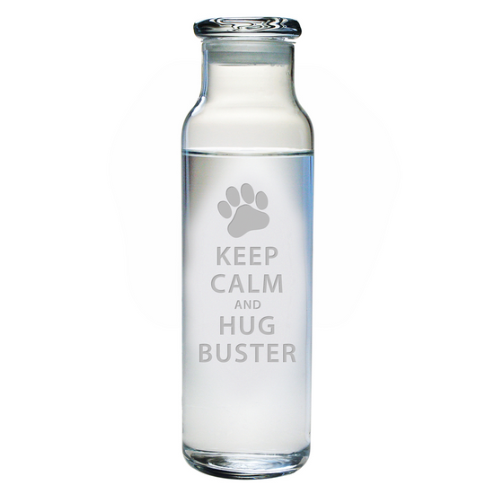 Keep Calm & Hug Personalized Water Bottle with Lid - Premier Home & Gifts