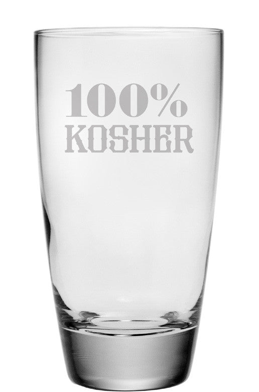 100% Kosher Highball Glasses ~ Set of 4