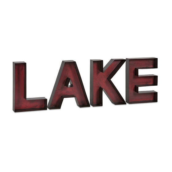LAKE Metal Wall Letters