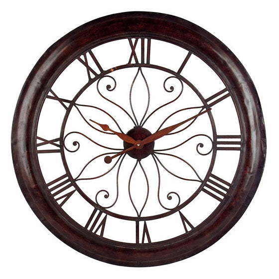 Elegant Metal Wall Clock - Premier Home & Gifts