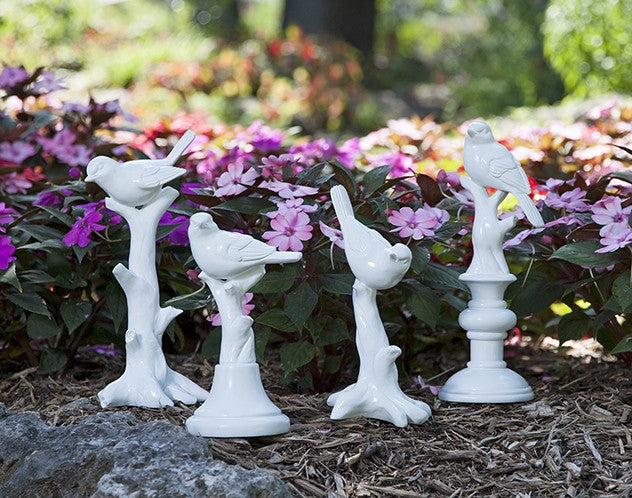 White Bird Statuary Set of 4