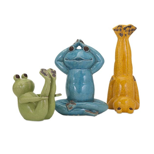 Yoga Garden Frogs - Set of 3