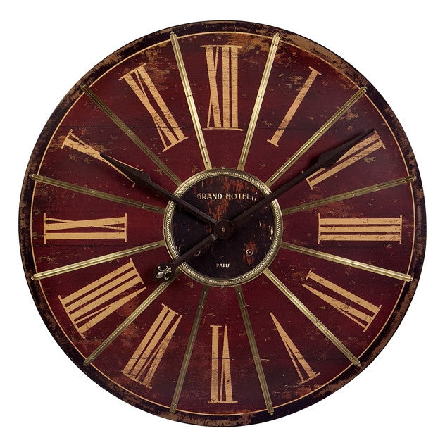 Roman Red Wall Clock