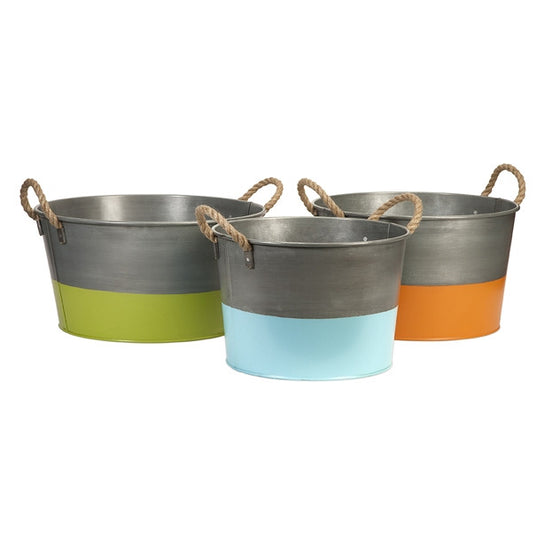 Chelsey Round Tubs ~ Set of 3