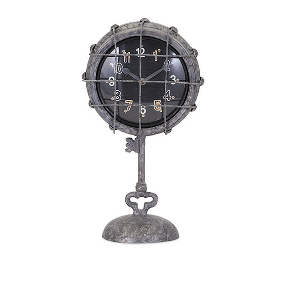 Grid Metal Pedestal Clock