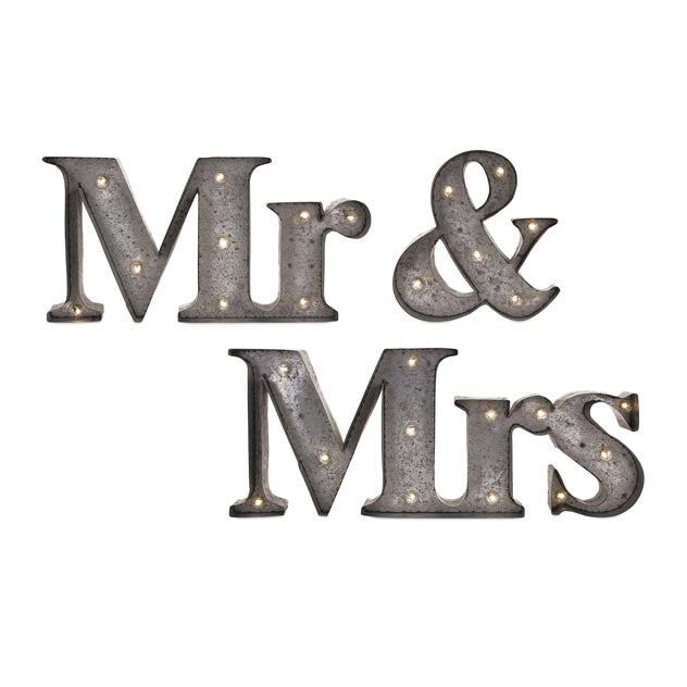 Mr. & Mrs. Lighted Sign