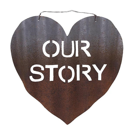 Our Story Heart Metal Decor