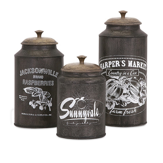 Farmhouse Metal Canisters