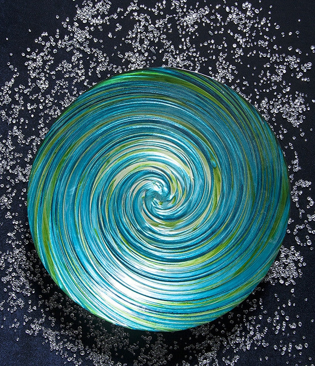 coastal swirl decorative glass bowl - Decorative Glass Bowls