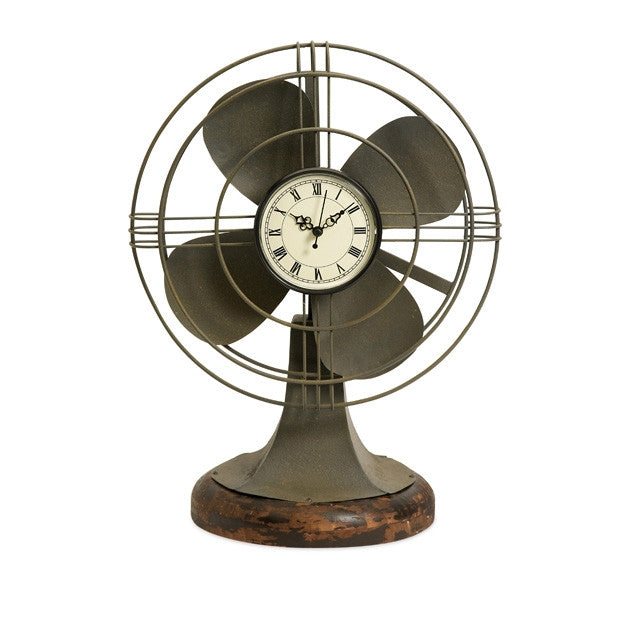Vintage Fan Table Clock