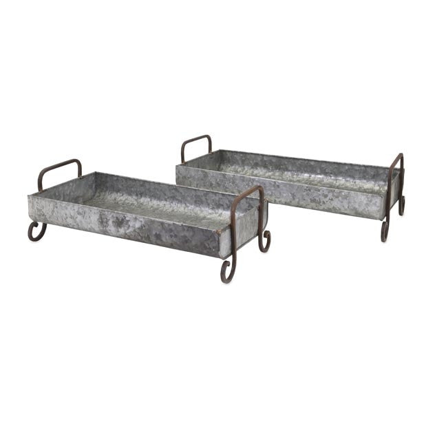 Trough Galvanized Decorative Trays