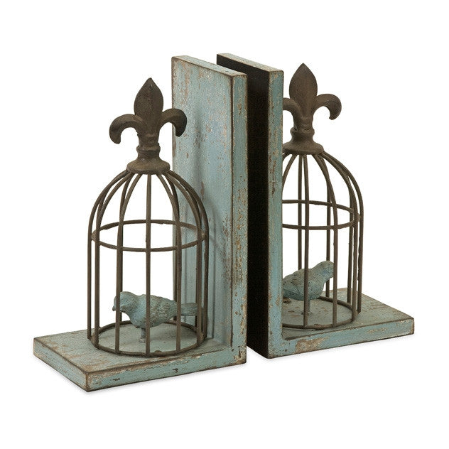 Birdcage Bookends - Set of 2