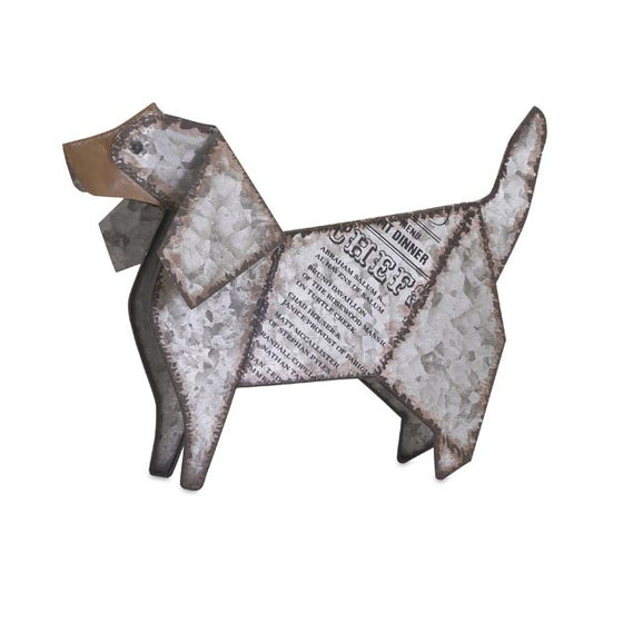 Galvanized Dog Decor