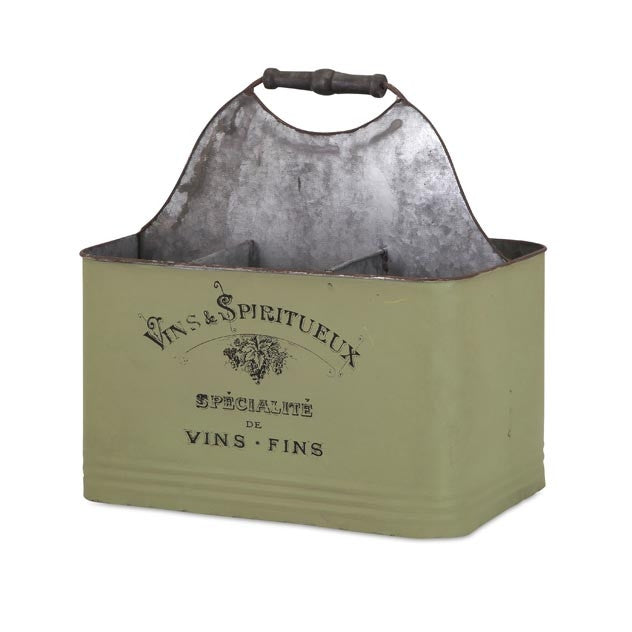 Vineyard Galvanized Wine Caddy