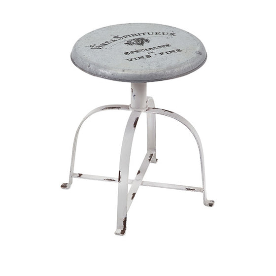 French Country Metal Stool