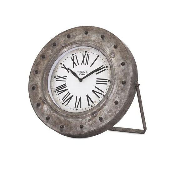 Galvanized Desk Clock