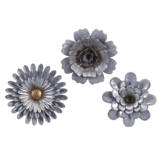 Galvanized Wall Flowers