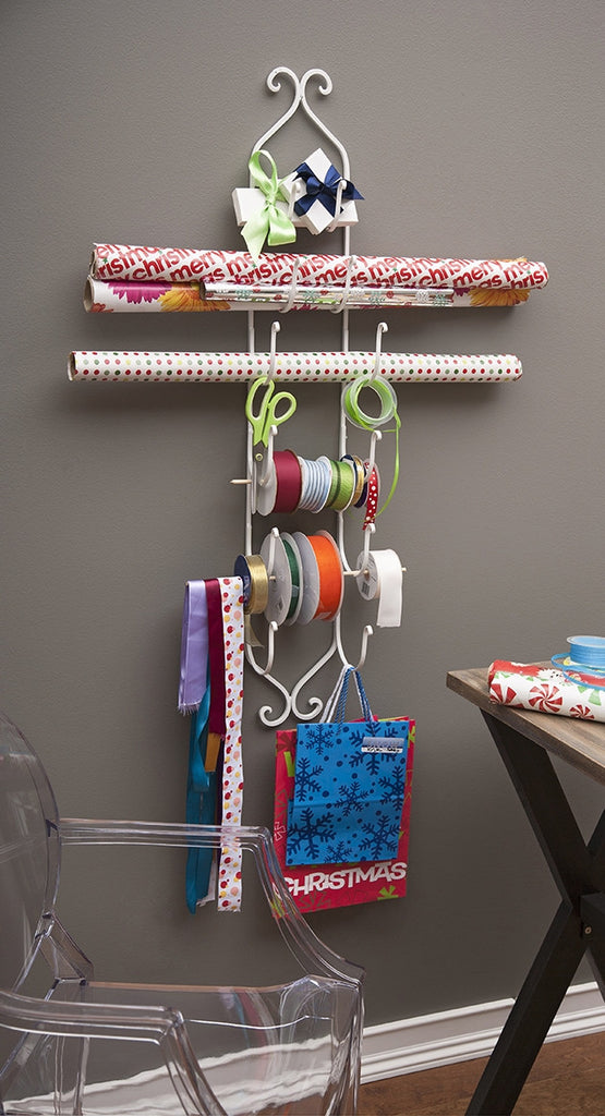 White Iron Wall Rack