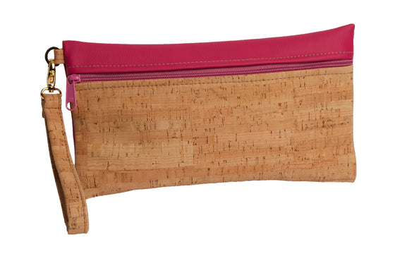 Be Ready Cork & Leather Wristlet - Large | Premier Home & Gifts