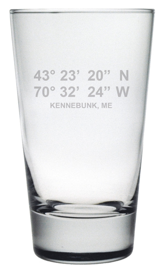 Latitude Longitude Highball Glasses ~ Set of 4