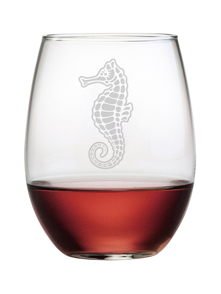 Seahorse Stemless Wine Glasses